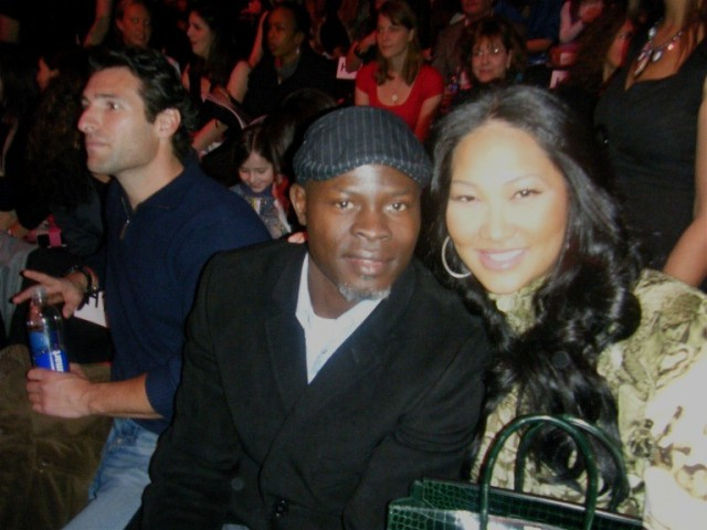 Fashion Week - Barbie 50th anniversary show - Djimon Hounsou and Kimora Lee