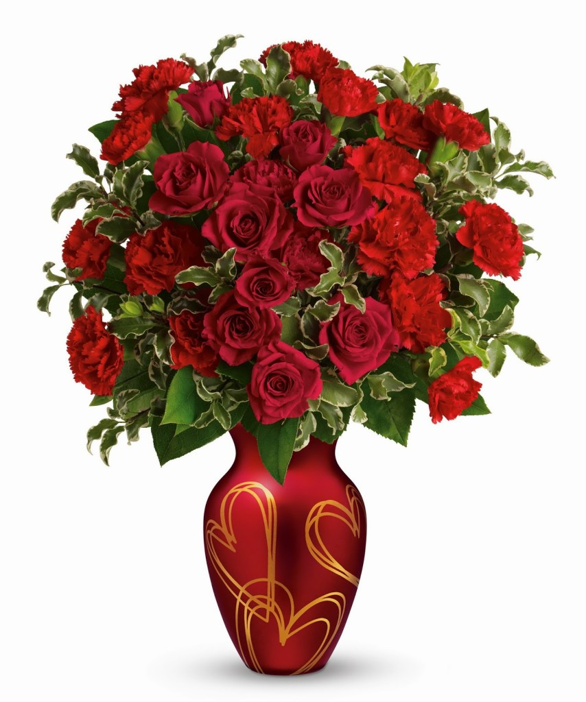 Teleflora-Hearts-of-Gold-Bouquet-For-Valentines-Day