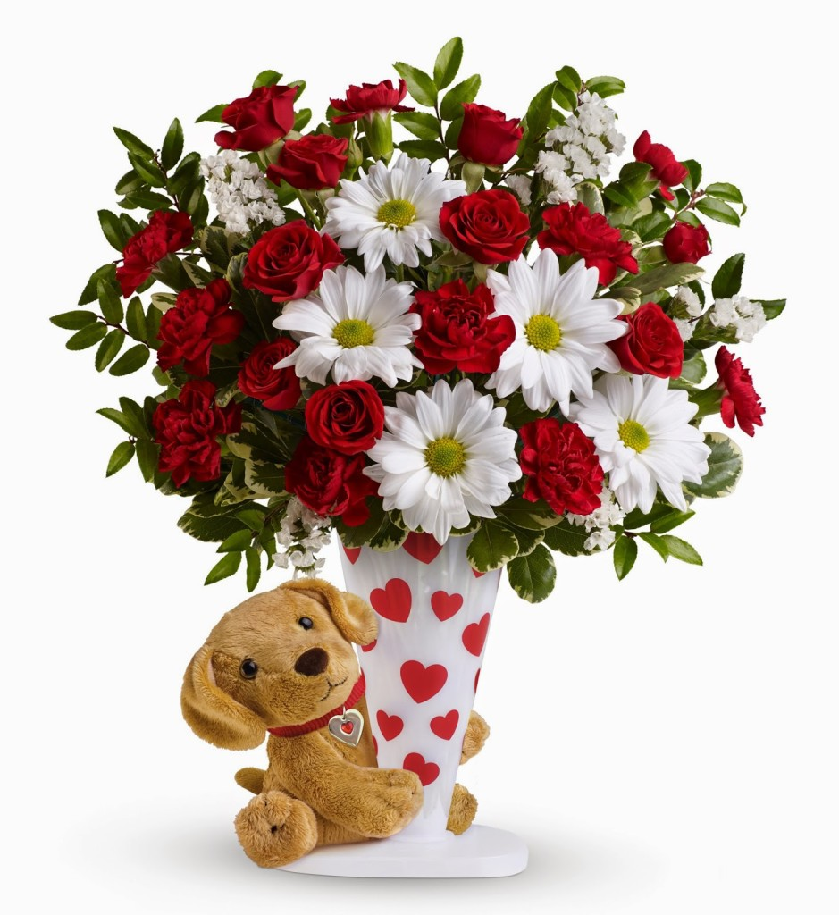 Teleflora-Send-a-Hug-I-Ruff-You-Bouquet-For-Valentines-Day