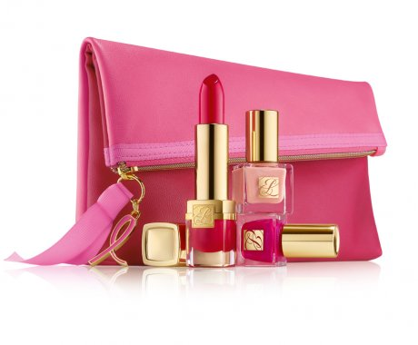 ESTEE LAUDER_EVELYN LAUDER AND ELIZABETH HURLEY DREAM PINK COLLECTION