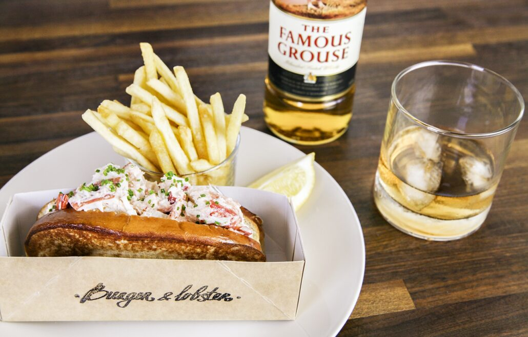 Famous Grouse and Burger and Lobster