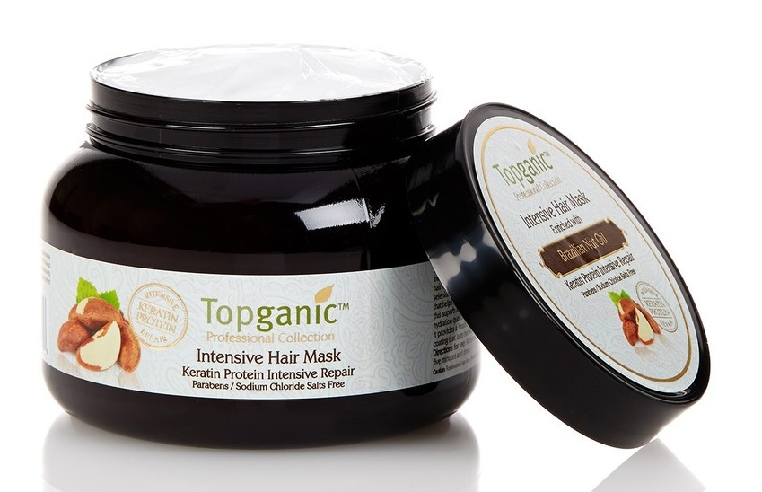 Topganic Intensive Hair Mask with Brazilian Nut Oil with Keratin Protein Intensive Repair2