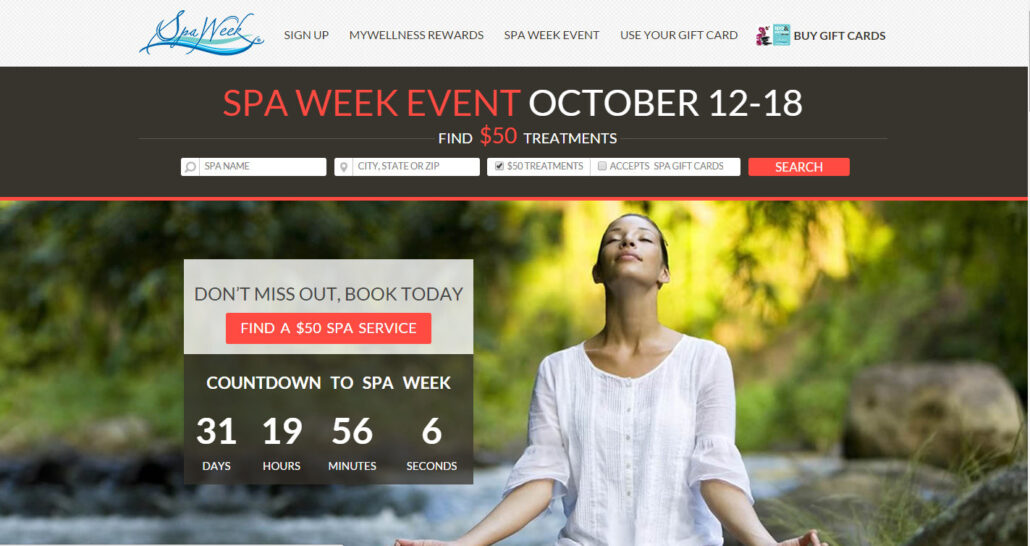 spa week october