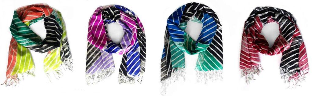 Pepette Mosaic stripe scarf
