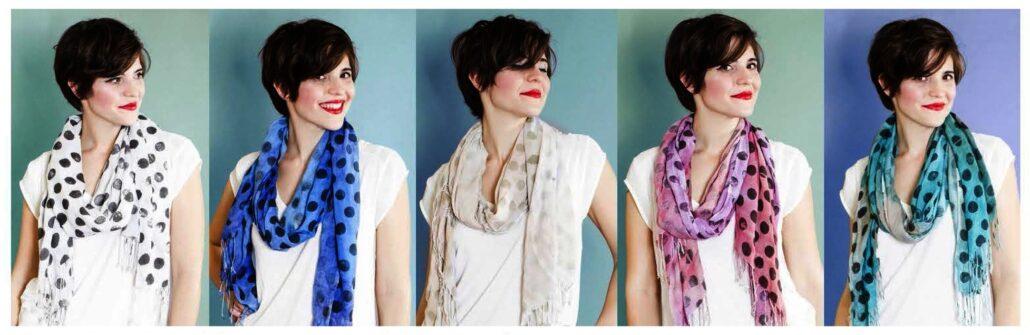Pepette Polka Dot scarf