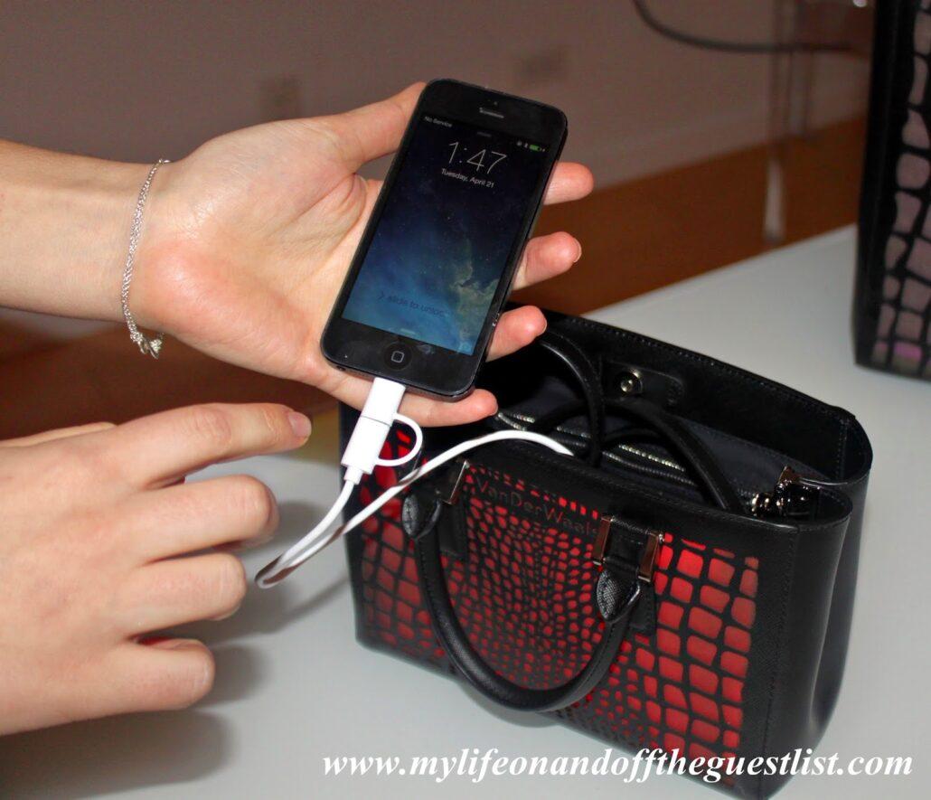 VanDerWaals-Handbags-Phone-Charging-www.mylifeonandofftheguestlist.com
