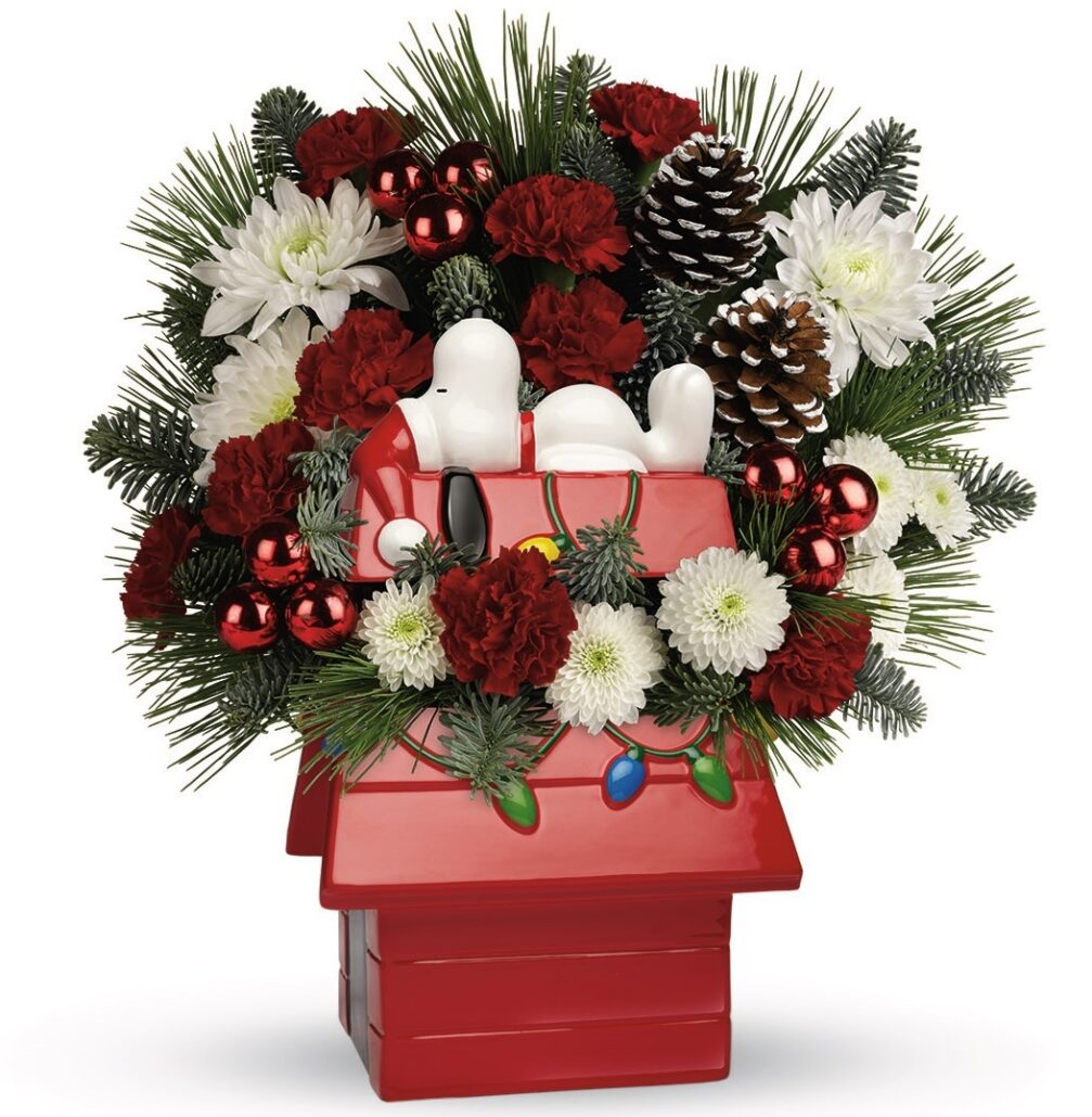 NEW Snoopy Cookie Jar Bouquet byTeleflora