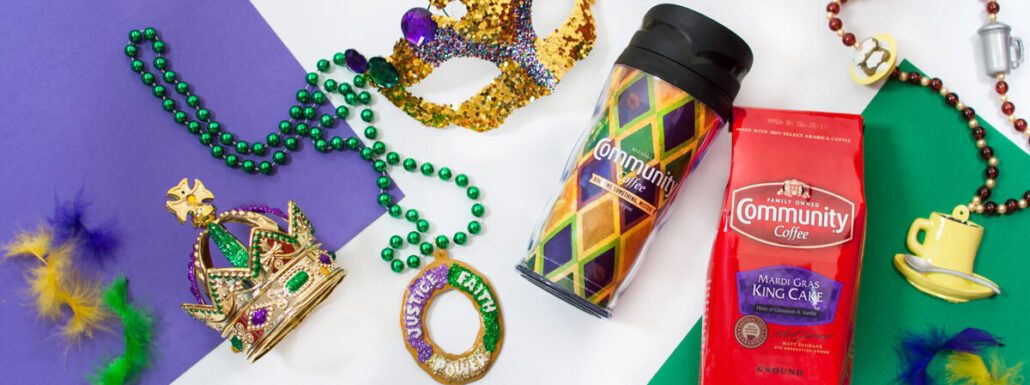 Community Coffee Mardi Gras King Cake coffee