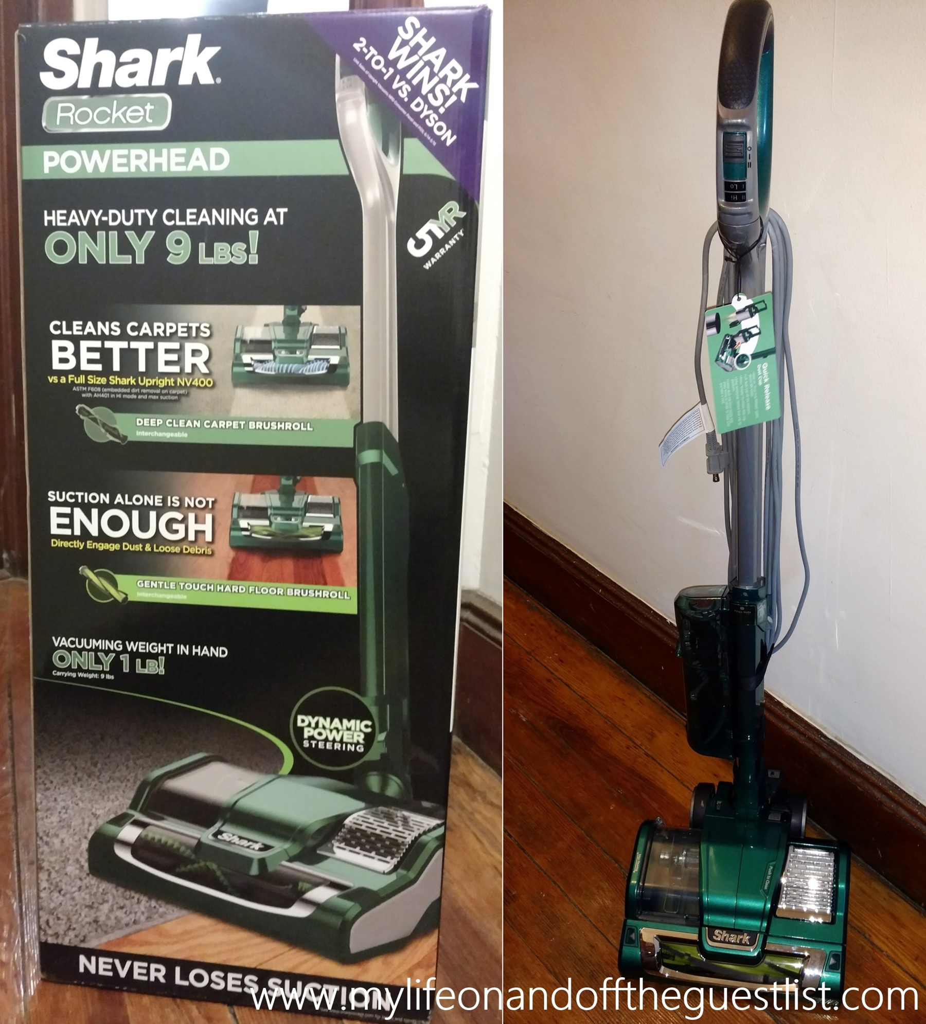 Spring Cleaning Shark Rocket Powerhead Vacuum