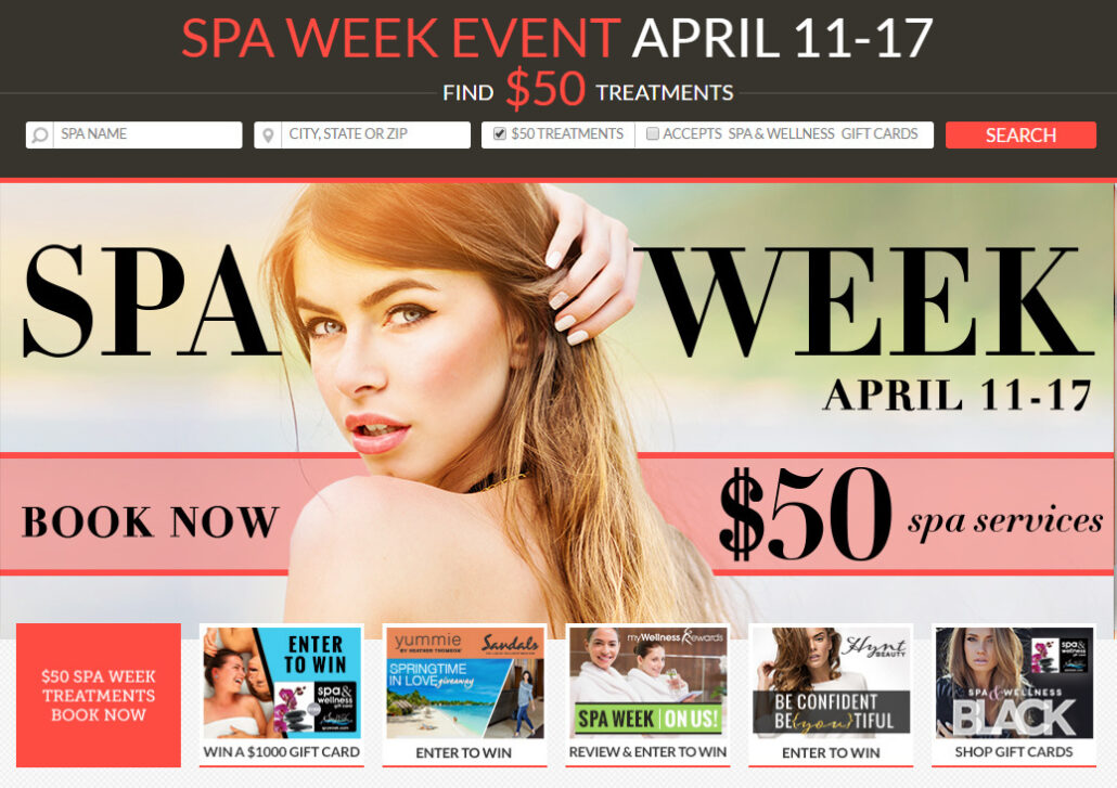 Spa Week April 11th-17th, 2016