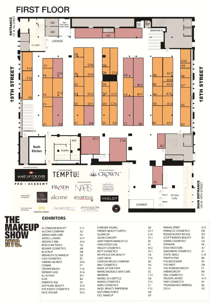 THE MAKEUP SHOW FLOOR PLAN MAIN FLOOR