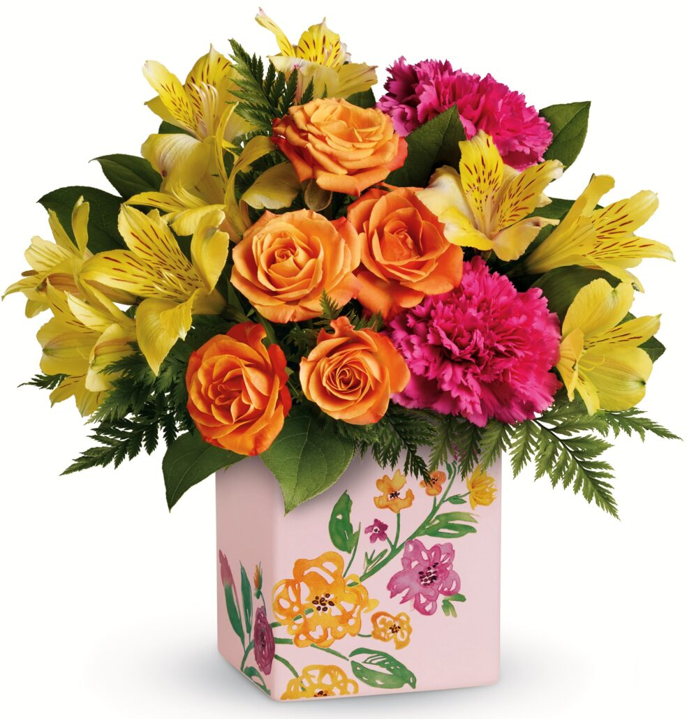 Teleflora Painted Blossoms Bouquet