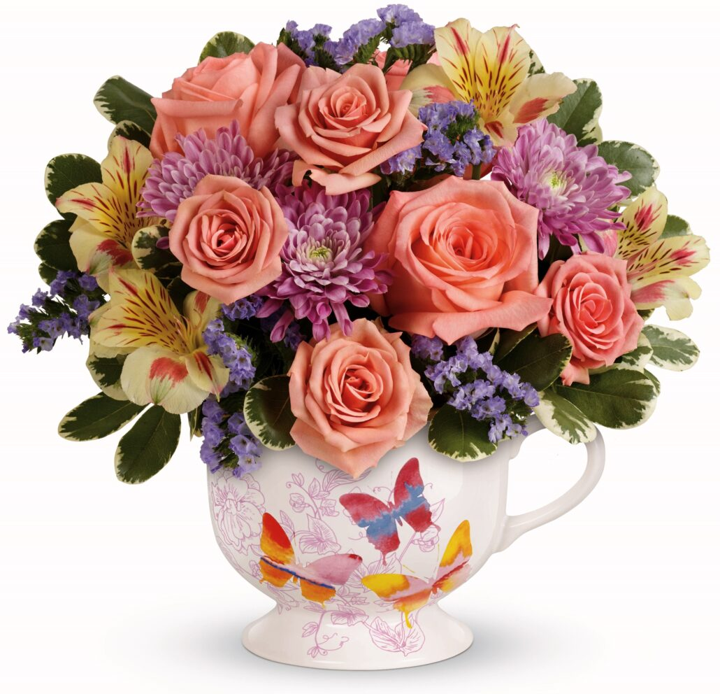 Teleflora's Butterfly Sunrise Bouquet T16M300A