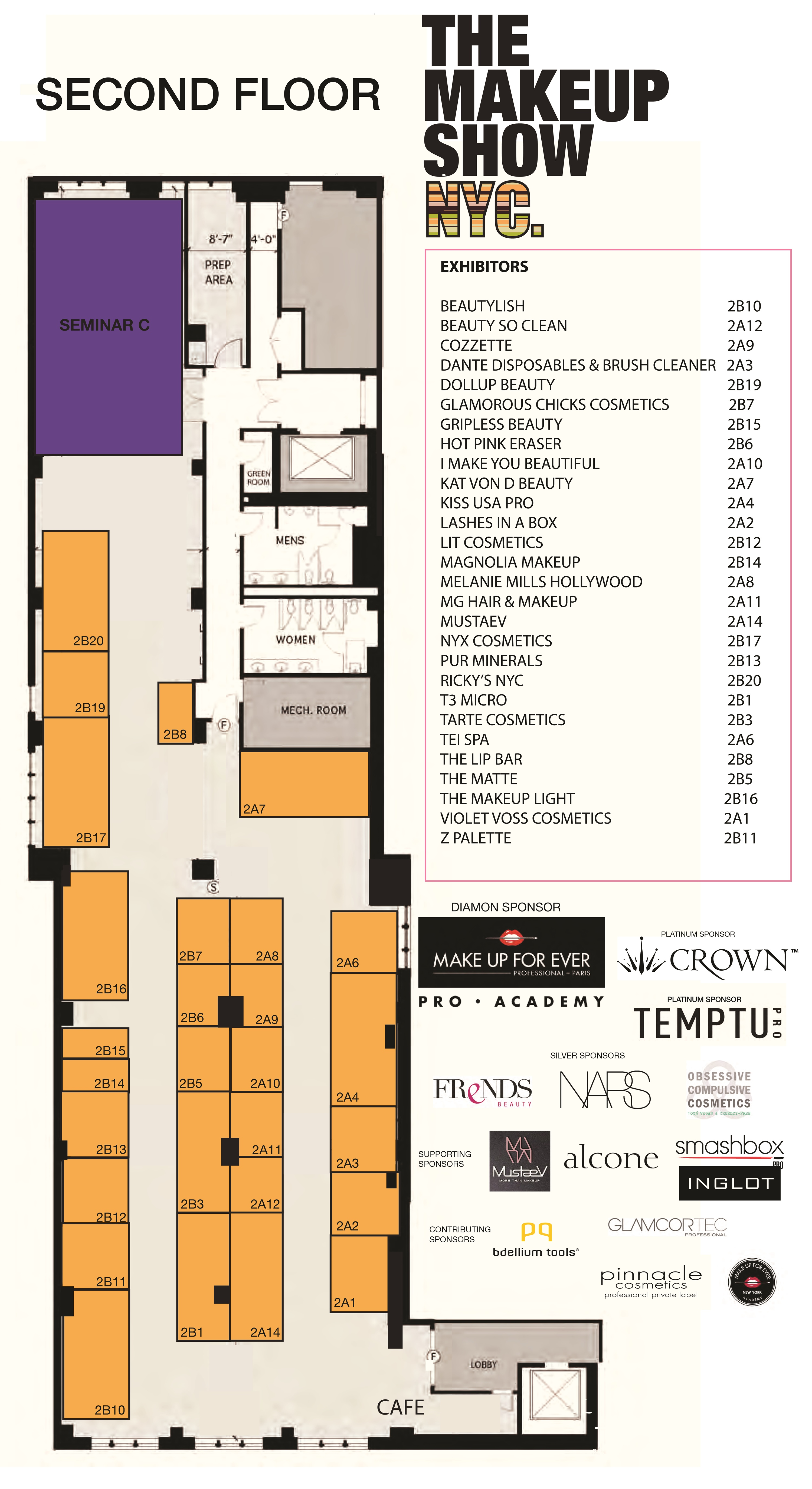 The Makeup Show second floor plan