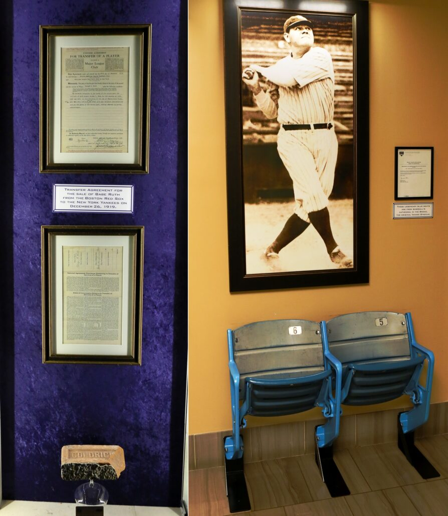 Babe Ruth Bill of Sale and Original Stadium Seats