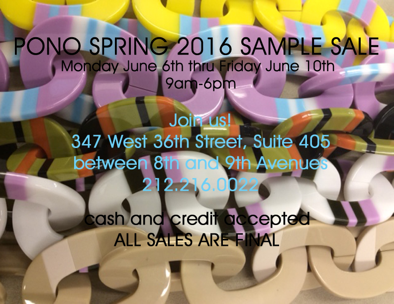 June Sample Sale Bright Paper Chain FB