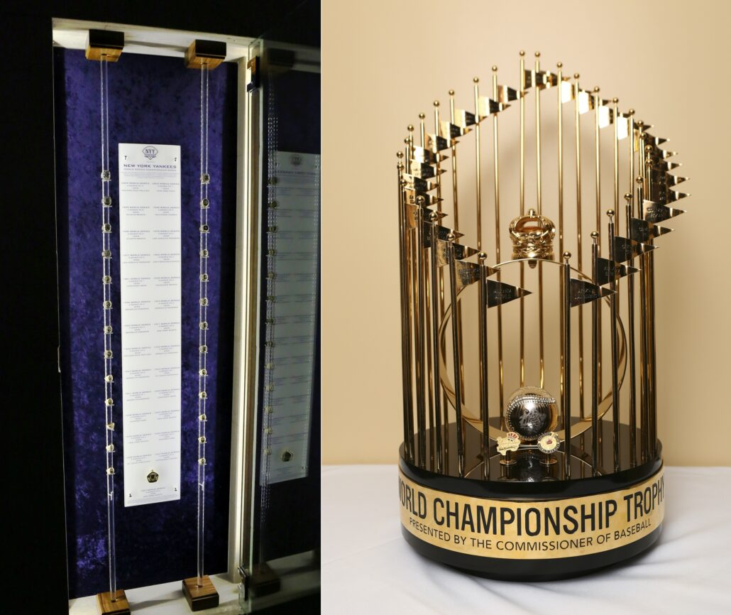 World Series Ring Display and Trophy