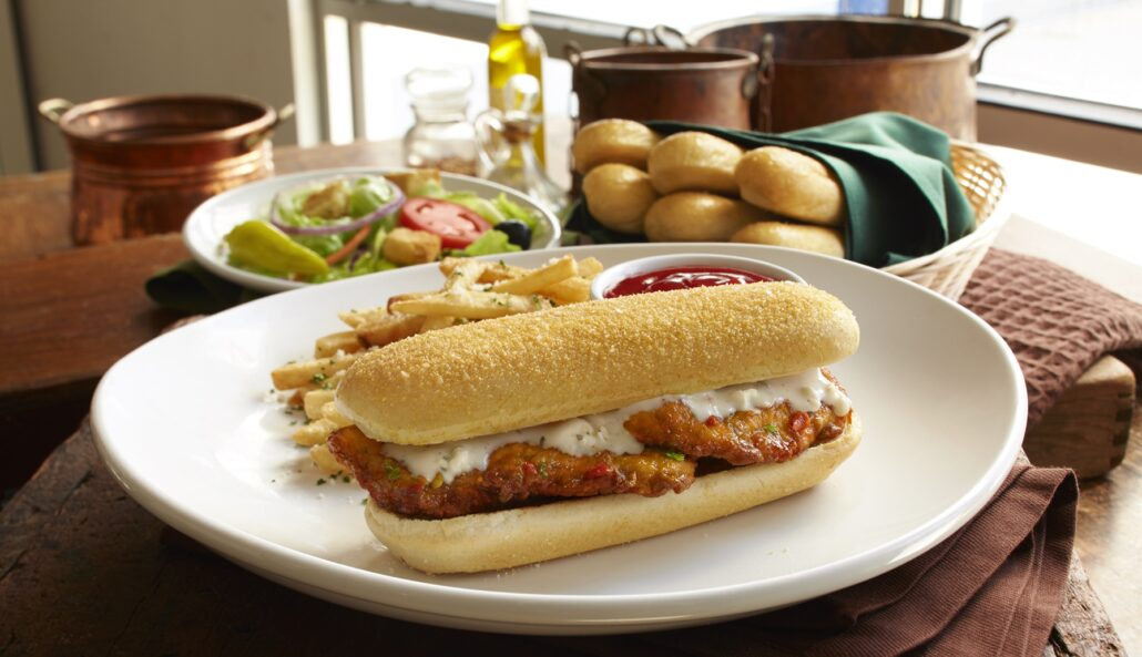 Spicy Calabrian Chicken Breadstick Sandwich