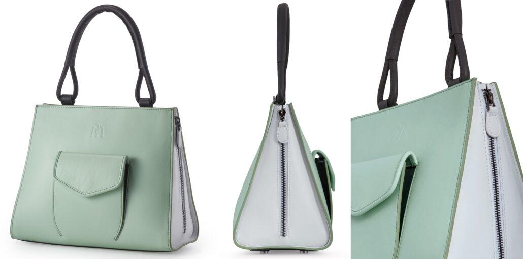 Tres Tricolor Mint handbag