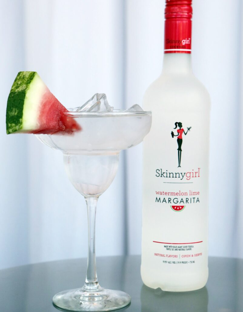 "Bethenny Frankel and her ""Skinnyguys"" toast the launch of new Skinnygirl Watermelon Lime Margarita following an appearance in Chicago on June 18, 2016. (Jean-Marc Giboux/AP Images for Skinnygirl Cocktails)"