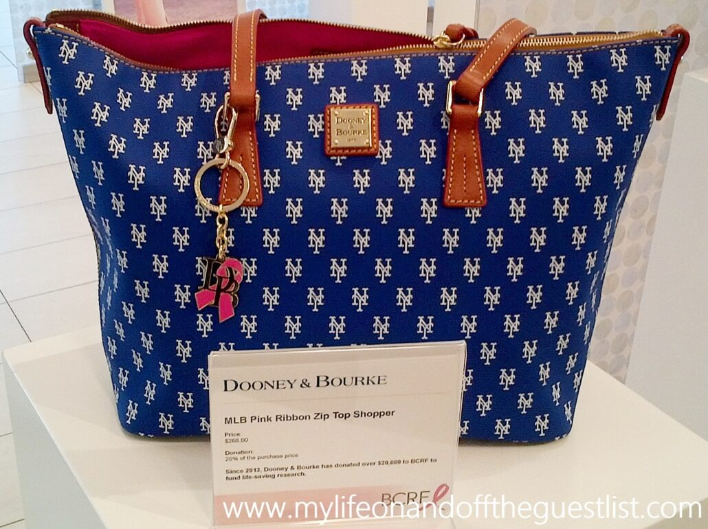 Dooney_&_Bourke_MLB_Pink_Ribbon_Zip_Top_Shopper_www.mylifeonandofftheguestlist.com