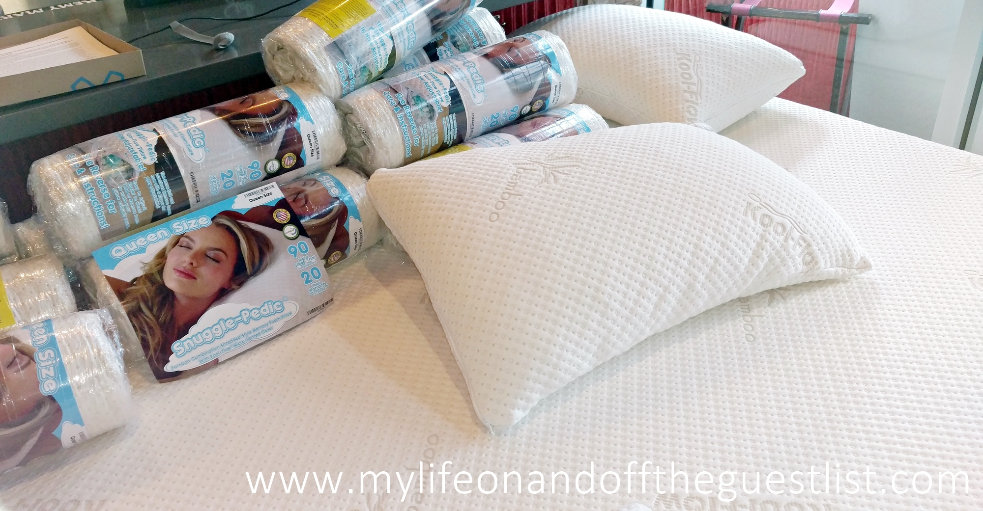 Let S Sleep In Snuggle Pedic Bamboo Memory Foam Pillow