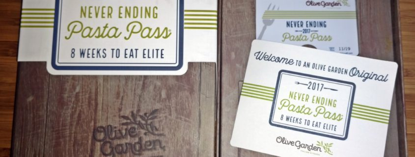 All Sold Out Olive Garden Never Ending Pasta Pass And Pasta Passports