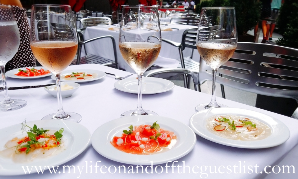Food Photography: Cafe metro Monday Mariage Rosé and Crudo Pairing