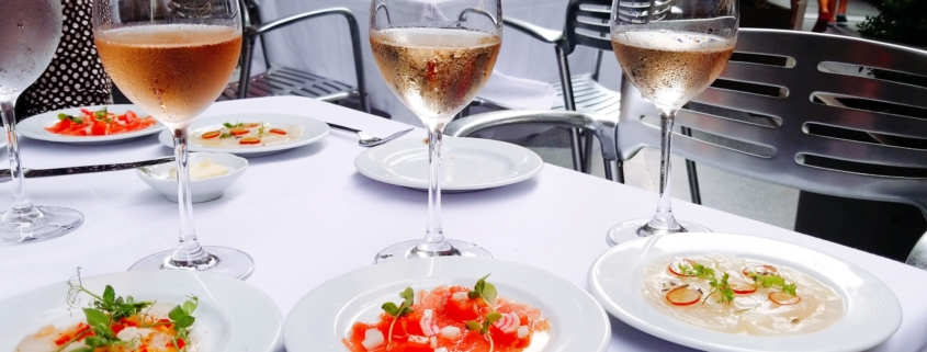 Food Photography: Cafe Centro Monday Mariage Rose and Crudo Pairing