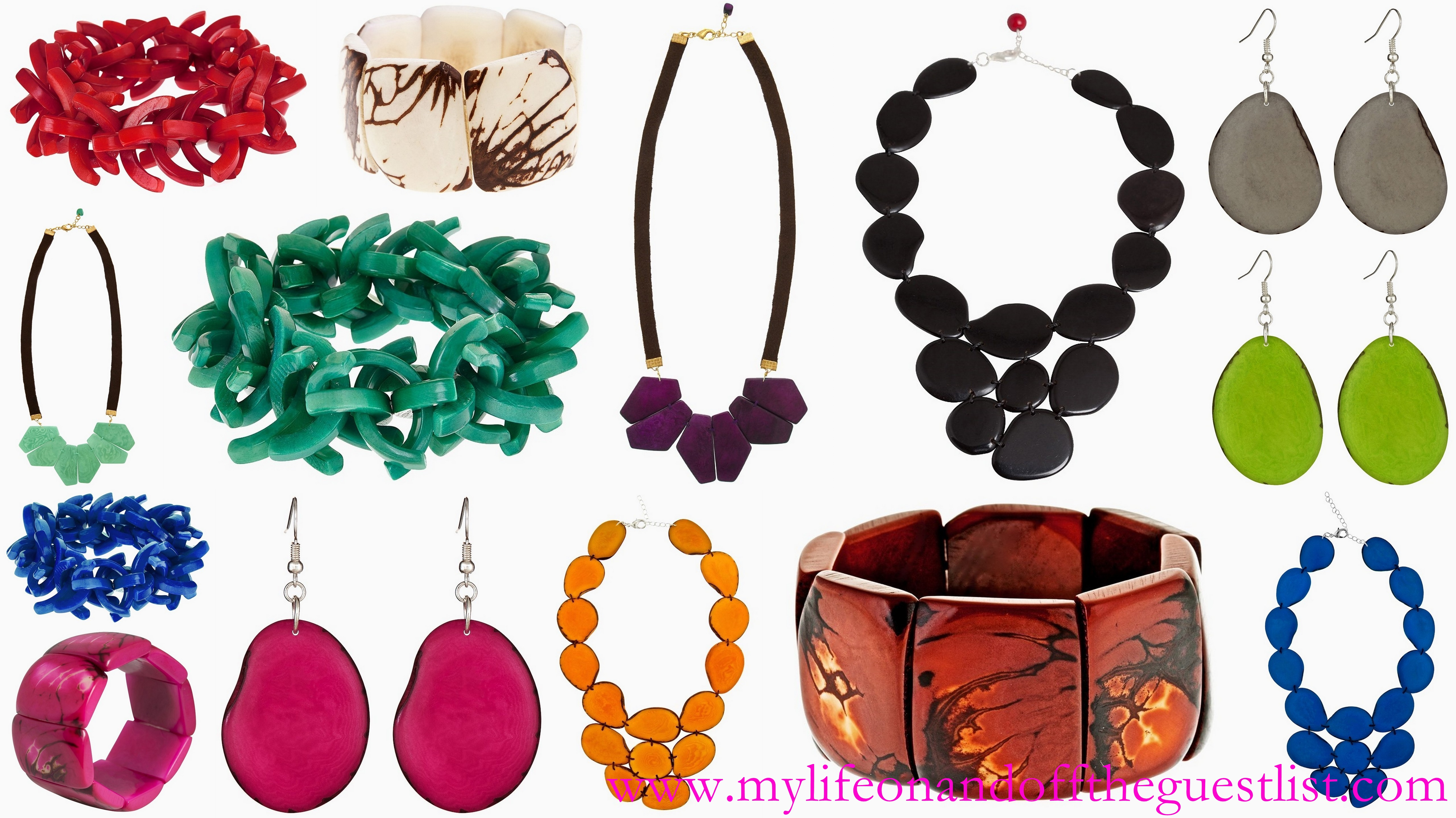 beautiful jewelry: bracelets, necklaces and earrings