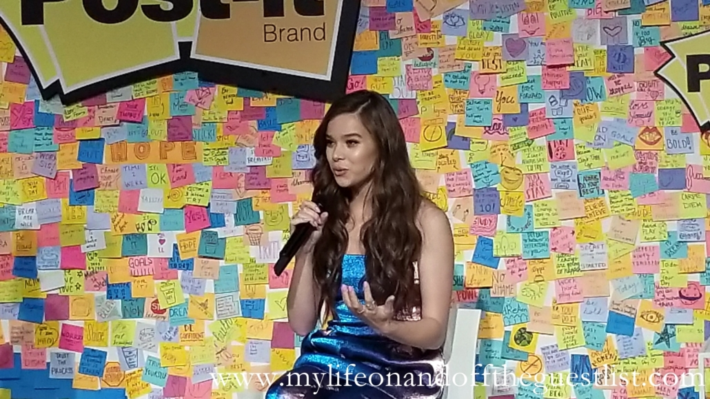 Hailee Steinfeld at the Post-It Back To School Event