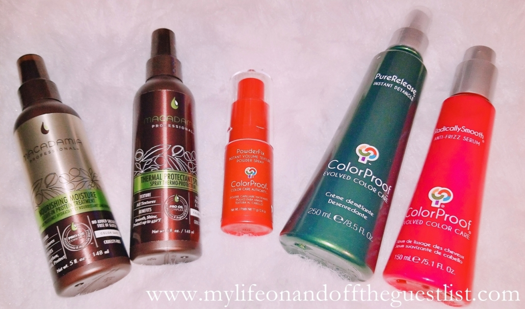 Colorproof and Macadamia Professional hair care products