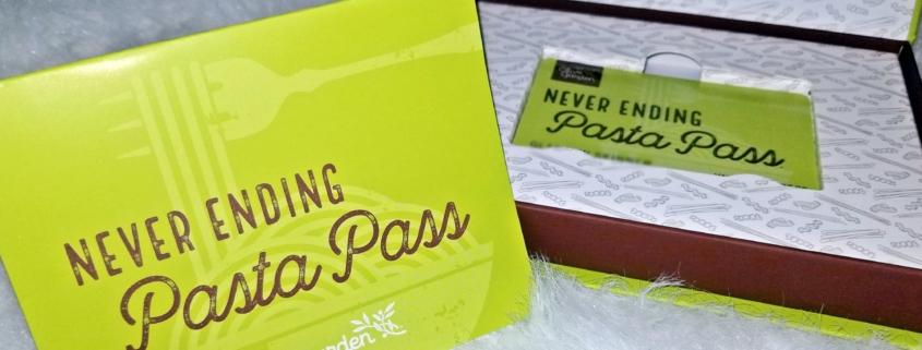 Olive Garden Never Ending Pasta Pass