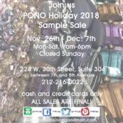 PONO 2018 Holiday Jewelry Sample Sale