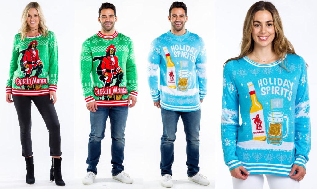 Captain Morgan Holiday Sweaters