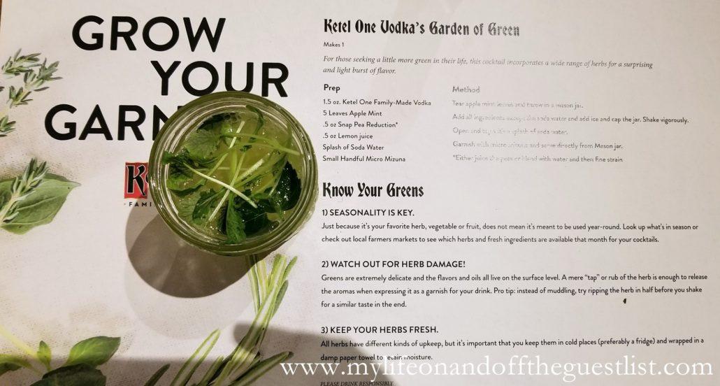 Ketel One Vodka Garden of Green Cocktail