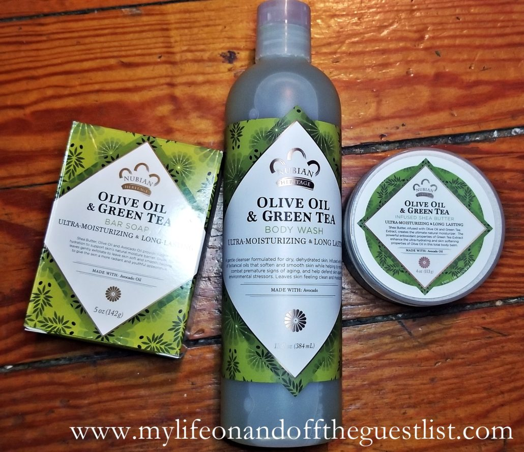 Nubian Heritage presents Olive Oil & Green Tea Collection