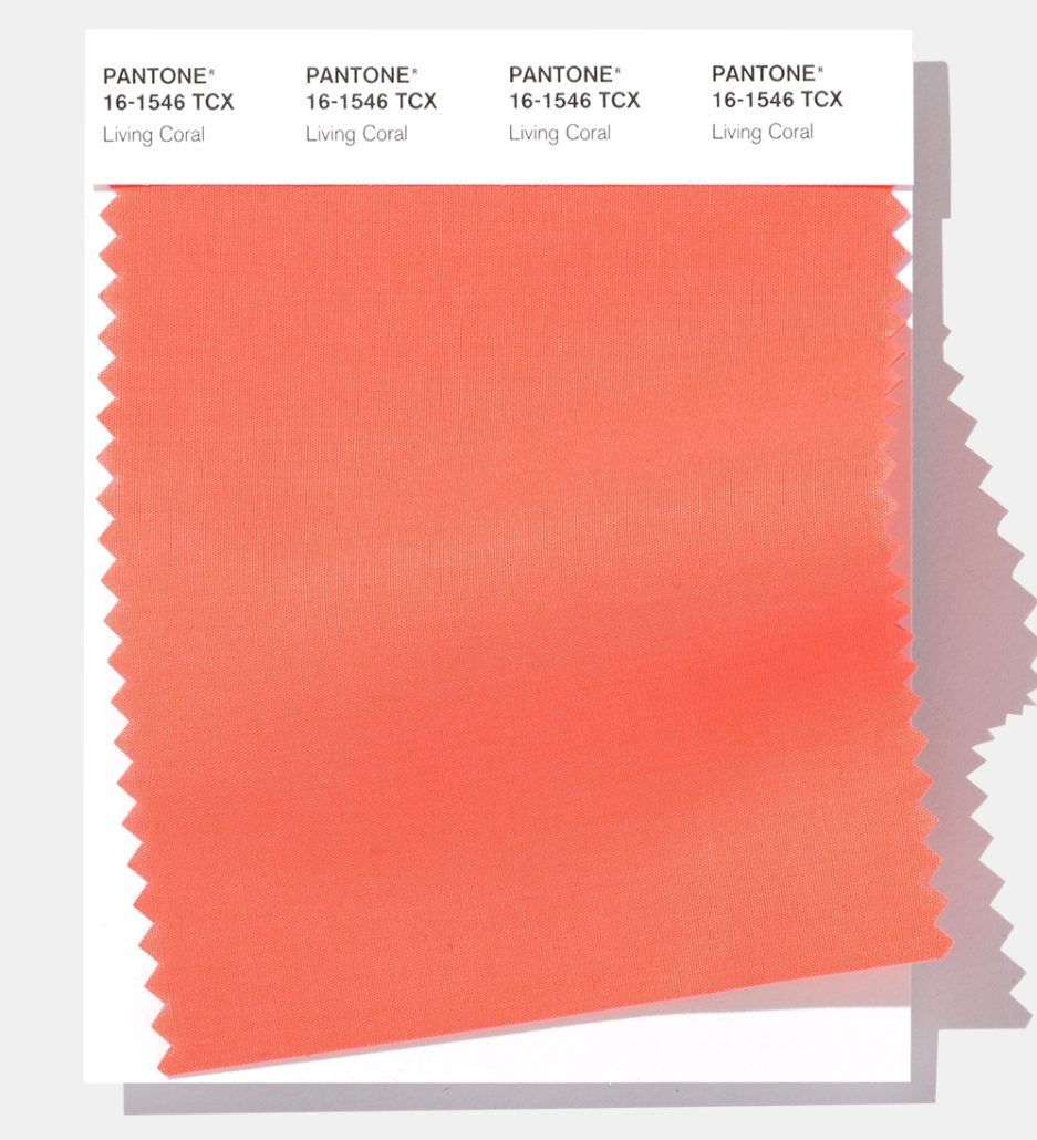 "Pantone's 2019 Color of the Year. ""Living Coral"""