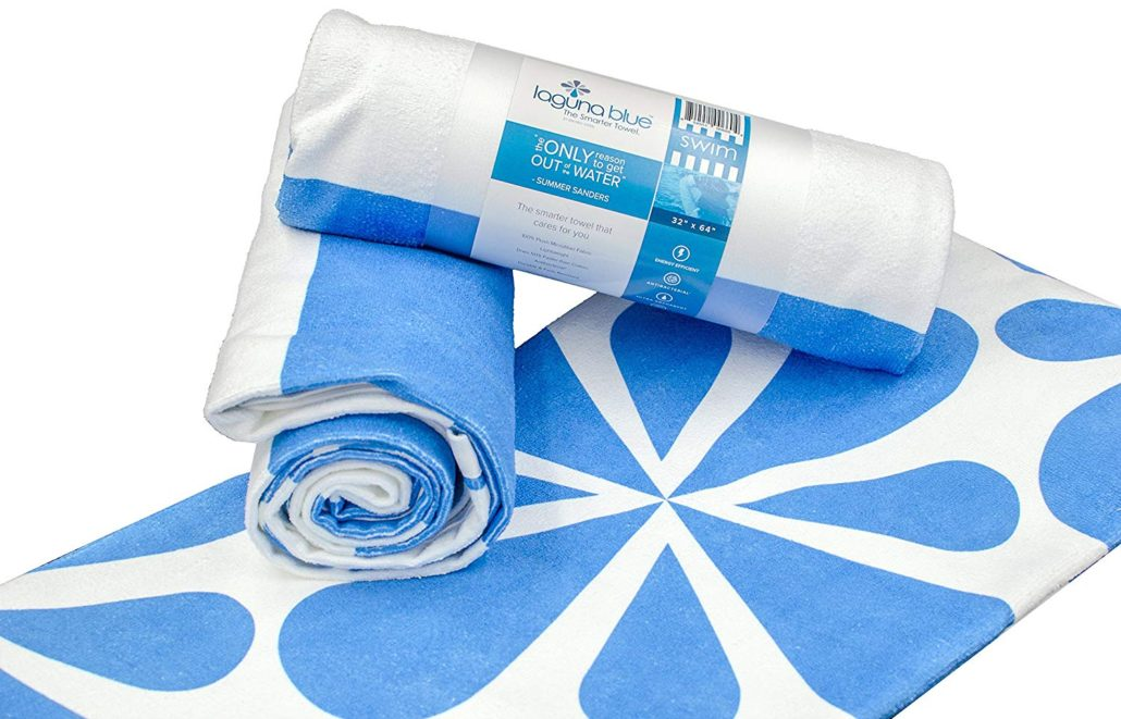 Laguna Blue Quick Drying Antibacterial Towels