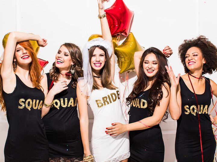 Brides and bridesmaids