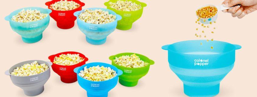 The Original Colonel Popper Silicone Microwave Popcorn Popper