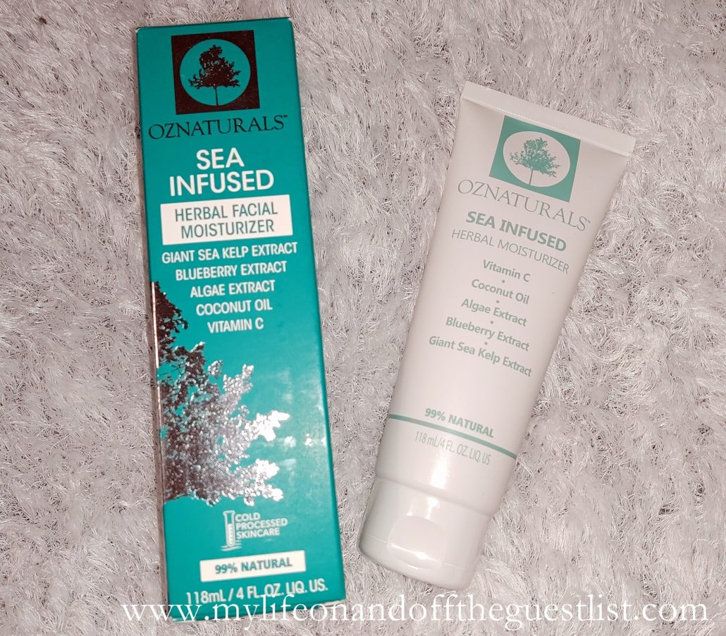 OZNaturals NEWLY FORMULATED! Sea Infused Herbal Moisturizer