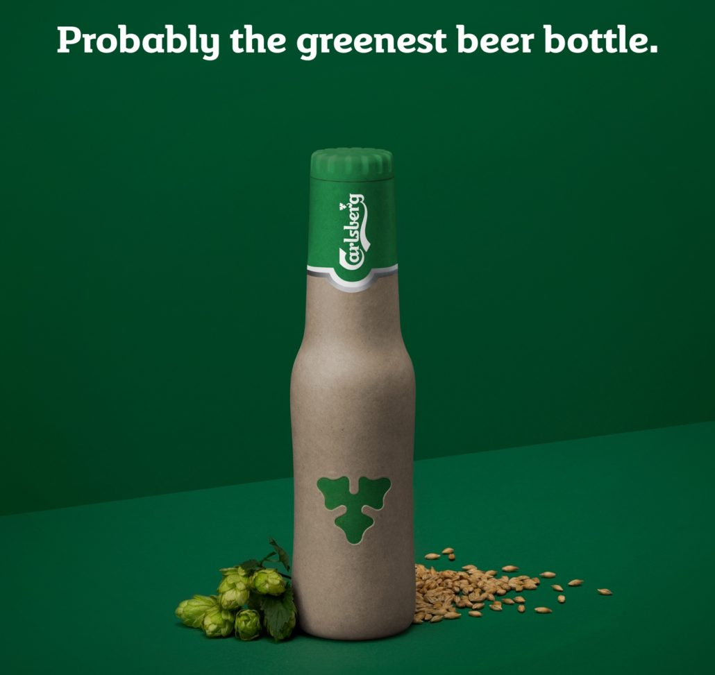 Carlsberg Green Fiber Bottle Design