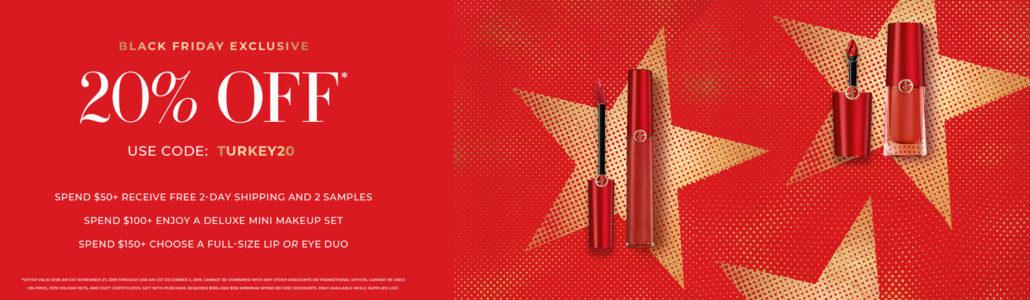 Armani Holiday Sales