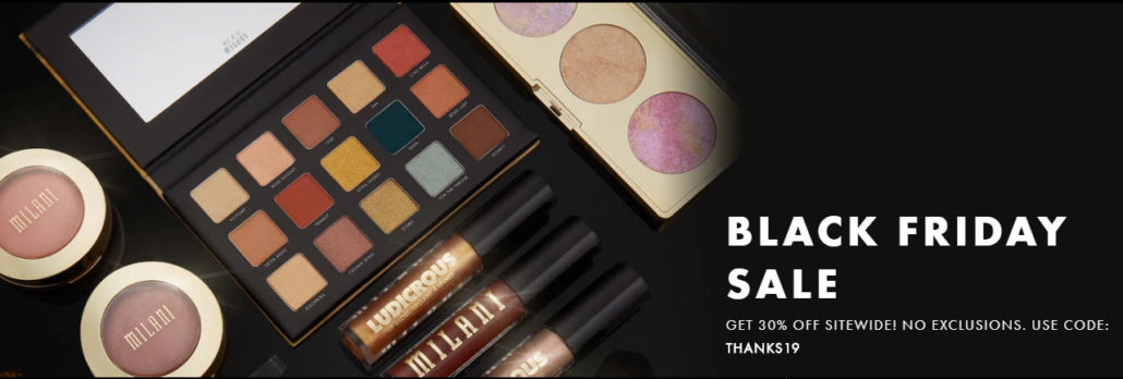 Milani Cosmetics holiday deals