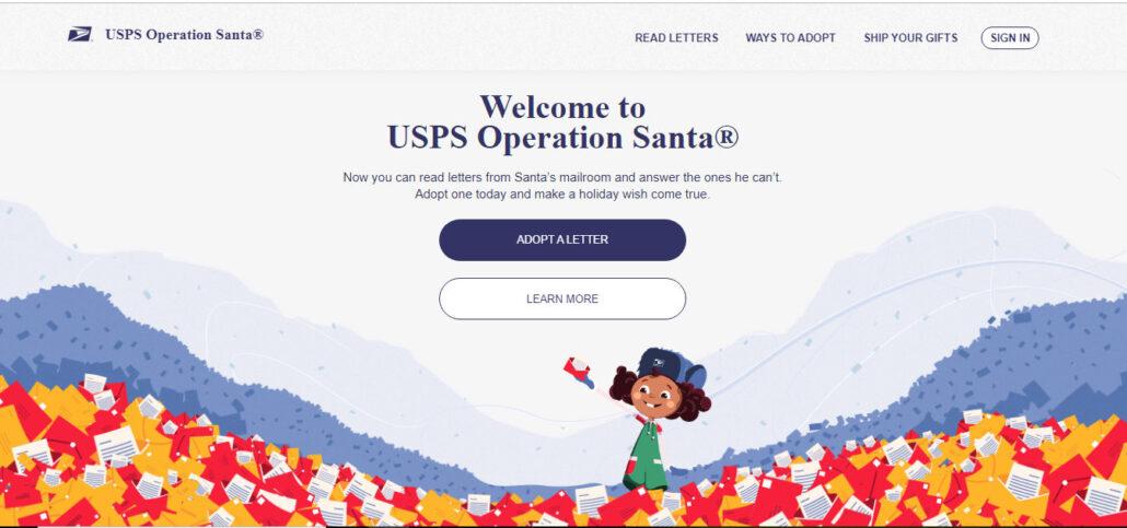 USPS Operation Santa Online