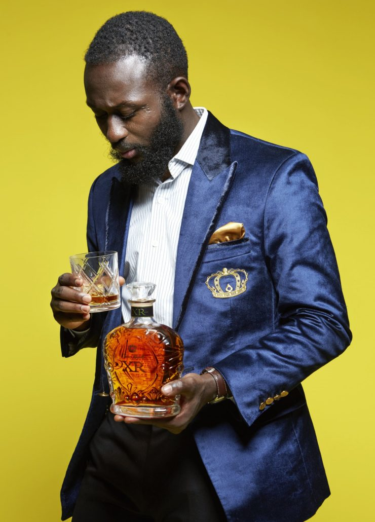 "Crown Royal XR Bespoke ""sipping"" blazer"