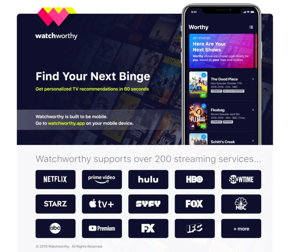 New App Watchworthy is Being Dubbed the Tinder of Television