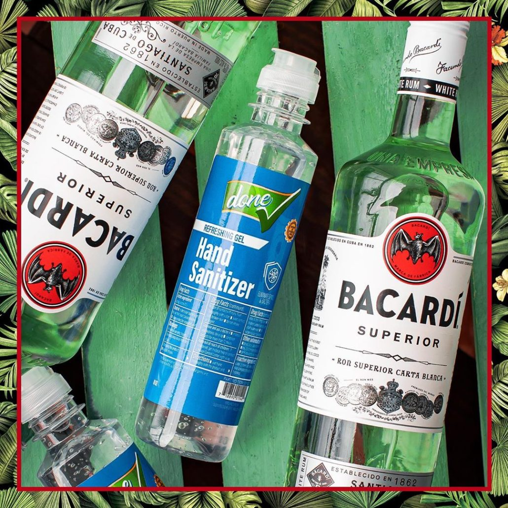 BACARDI HELPS PRODUCE HAND SANITIZERS WITH CHANGE IN PRODUCTION