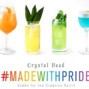 Rainbow Cocktails #MadeWithPride & Crystal Head Vodka